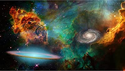 """24"""" Mini-Mural Outer Space Series Galaxy Nebula Stars in Universe #1 Wall Decal Sticker Graphic Home Kids Game Room Office Landscape Art Man Cave Decor NEW"""