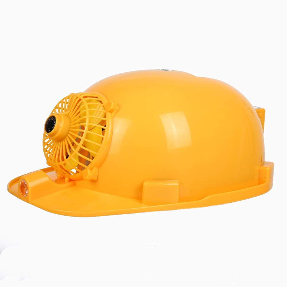 JUFU Helmet Safety Helmet - Summer Ventilation Cooling Cap Anti-Smashing Lighting Rechargeable with Mobile Power Construction Construction Dual Power Supply Solar Fan hat @@