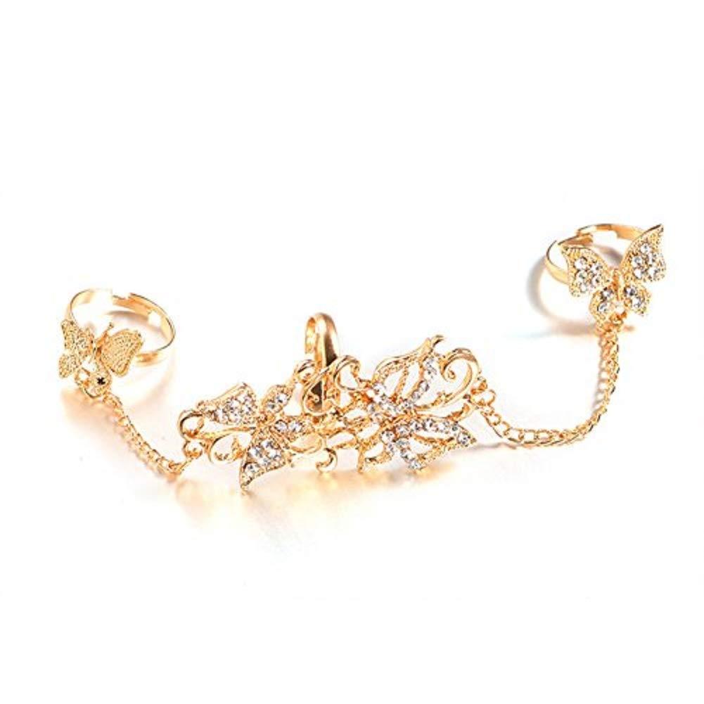 zedo Ringe mehrere Finger Verstellbarer Schmetterling Fashion Jewelry Valentines Geschenke 8184RLS15673VXGJ4M54Q