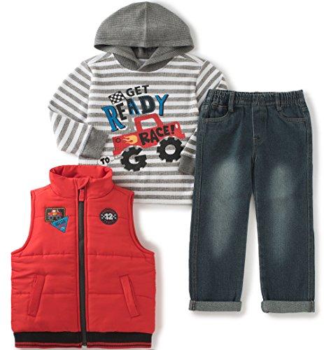 Kids Headquarters Little Boys 3 Pieces Vest Set - Thermal...