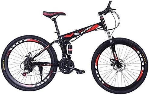 WZB Bicicleta de montaña, Bicicleta Plegable de 26 Pulgadas con ...