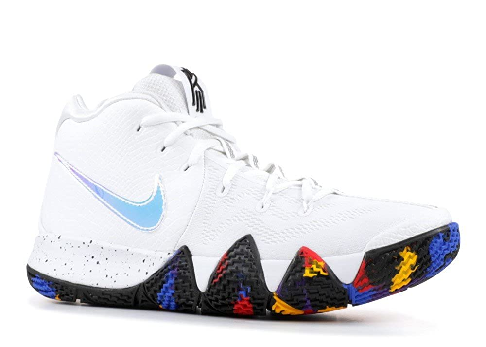 White, multi-color Nike Kyrie 4 'RED Carpet' - 943806-602