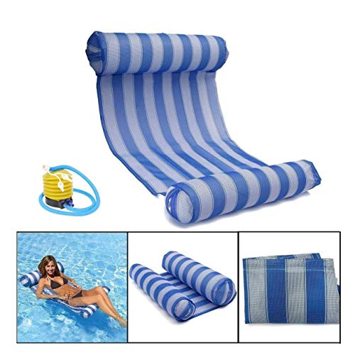 Sienna Saddle - Elegent Swimming Pool Float, Inflatable Pool Hammock Floating Bed Recliner Beach Saddle Drifting Adult Portable air Cushion, 1 air Pump Cute
