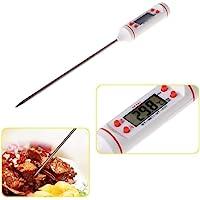 Joytech Dijital LCD Gıda Yemek Termometresi Batırmalı Mutfak Termometresi Sıcaklık Ölçer-BEYAZ