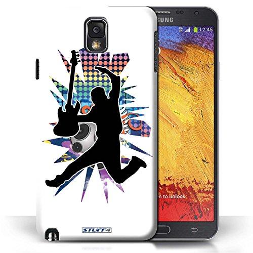 Etui / Coque pour Samsung Galaxy Note 3 / Saut Blanc conception / Collection de Rock Star Pose