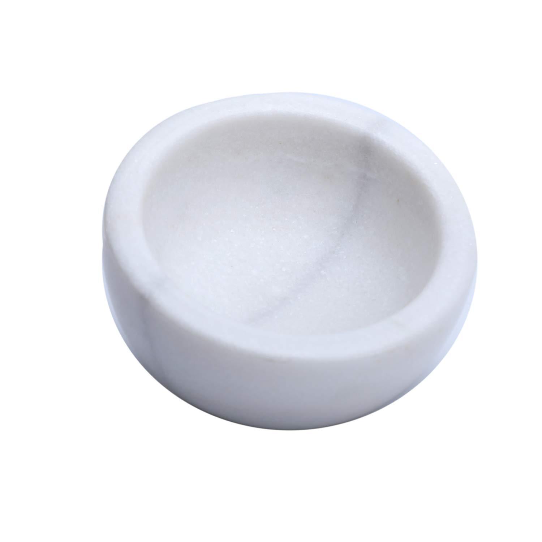 ShayVe Shaving Soap & Cream Bowl — Natural Granite Bowl For Shaving Soap & Cream — Exquisite Heat Insulated Wet Shaving Kit Addition (White)
