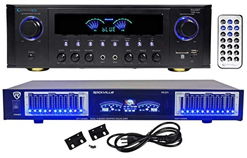 Technical Pro RX41BT Home Theater Receiver, Bluetooth USB/SD+10 Band Equalizer