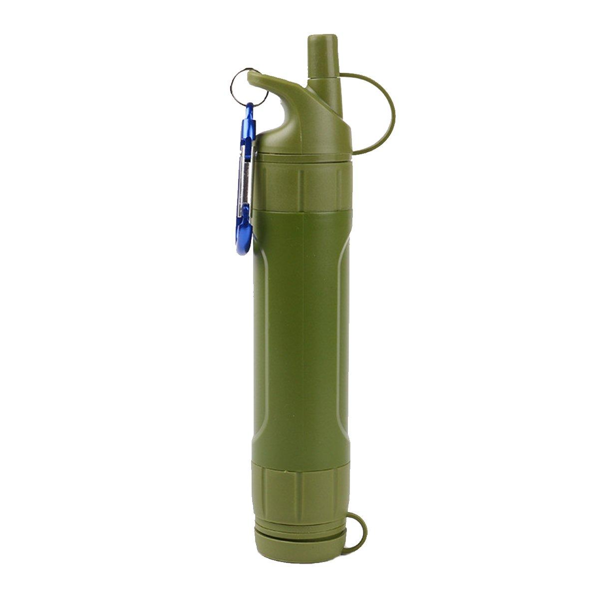 AUVSTAR - Filtro de agua personal, 2000 L, purificació n de agua portá til, mini sistema de filtració n de agua, pajita al aire libre, kit de filtració n de agua de supervivencia 0,01 micrones de emergencia para acampada, sender