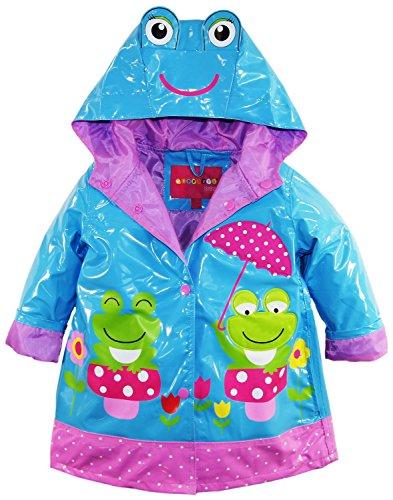 [Wippette WG765062 Rain Jacket Blue Fish 4T] (Child Frog Costume Pattern)