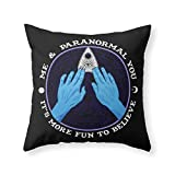 Society6 Me & Paranormal You - James Roper Design - Ouija (white Lettering) Throw Pillow Indoor Cover (20'' x 20'') with pillow insert
