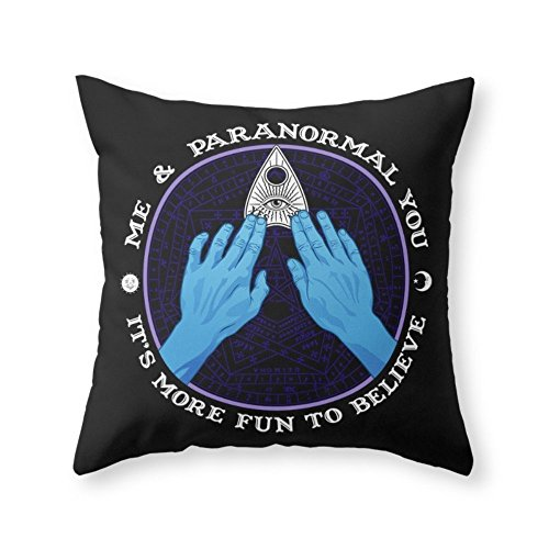 Society6 Me & Paranormal You - James Roper Design - Ouija (white Lettering) Throw Pillow Indoor Cover (20'' x 20'') with pillow insert by Society6