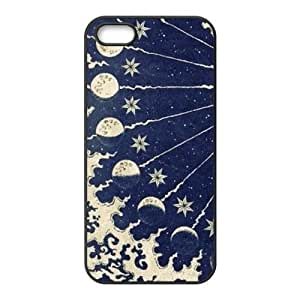 Sun and Moon Design Solid Rubber Customized Cover Case for iPhone 5 5s 5s-linda7