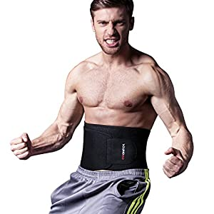 Waist Trimmer Fitness ab Slimmer Belt Weight Loss Belly Fat Burner for Men and Women,One Size Fits up to 46""
