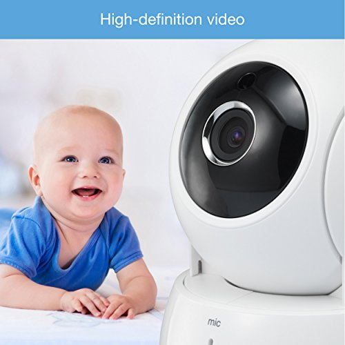 VTech VM991 Wireless WiFi Video Baby Monitor with Remote Access App, 5-inch Touch Screen, Remote Access Pan, Tilt & Zoom, Motion Alerts & Support for up to 10 Cameras by VTech (Image #2)