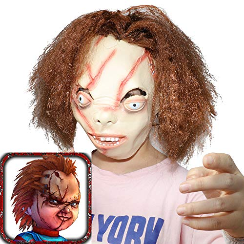 XIAO MO GU Funny Halloween Clown mask Chucky Mask Ghost Baby Mask for Halloween Party Decor Props -