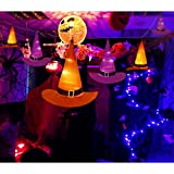 YUNLIGHTS Halloween Decorations 6Pcs Witchs Hat Decor Light 33ft String Lights for Indoor,Outdoor,Garden, Trees, Party Decor