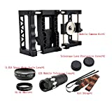 Elecguru PRO Universal Smartphone Camera Accessories Set Rig Full-Featured Camera Rig with Wide Angle and Macro Lens and 12X Mobile Telescope Lens
