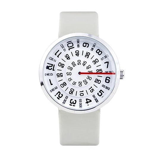 Reloj digital de la edad/del vidrio de corte/del reloj neutral creativo/de los hombres/de las mujeres, 1: Amazon.es: Relojes