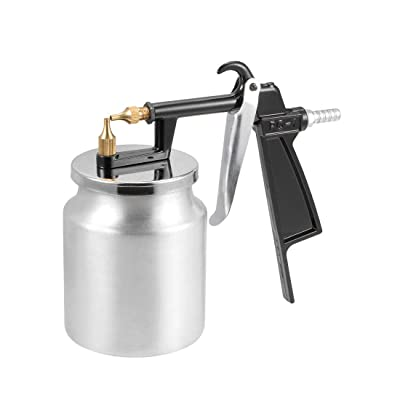 uxcell Spray Gun 2mm Nozzle with 400cc Cup HVLP Siphon Feed Paint Tool Kit, Aluminium Alloy: Automotive