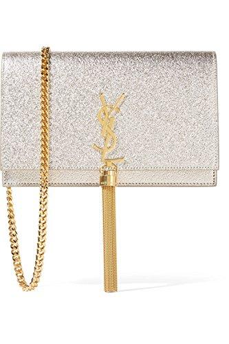 422e8b375eb Saint Laurent Kate Monogram Small Metallic Leather Tassel Chain Shoulder Bag:  Amazon.ca: Shoes & Handbags