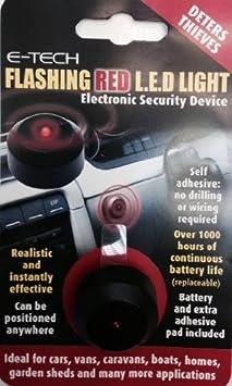 E Tech Blinkende Rote Led Dummy Alarm Diebe Verwendung In Auto Van Boot Etc Auto