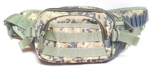 East West U.S.A FC102 Tactical Military Digital Camouflage Fanny Pack, Camo