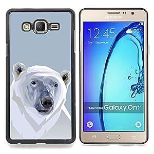 """Qstar Arte & diseño plástico duro Fundas Cover Cubre Hard Case Cover para Samsung Galaxy On7 O7 (Polígono Oso Polar"""")"""