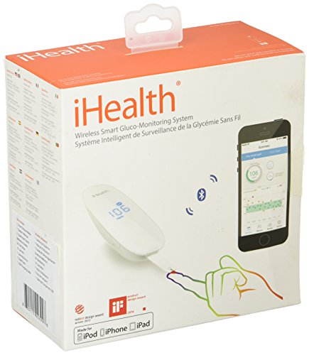 iHealth Smart Wireless Gluco-Monitoring System with 50 Test Strips and Control Solution, 1.5 Pound