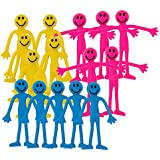 Fiddle Toys - 15 x Mixed Smiley Bendy Men Fiddle Kit by StressCHECK - Sensory Toys - Stress Relief Toys & ADHD Toys