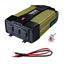 ERAYAK 1000W Power Inverter DC12V to AC110V 3 AC Outlets Dual USB Charging Ports 2.1A - 8130U