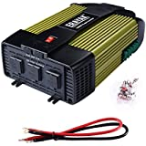 ERAYAK 1000W Power Inverter 3 AC Outlets,Dual USB Charging Ports 2.1A,w/ DC12V Cigarette lighter socket & Car Battery Clip Cable, for Laptops,Refrigerator,TV,Lamp,Saw,Drill,Fan,Game Console-8130U