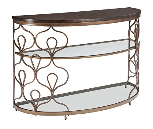 Inlay Top Sofa Table - Ashley Furniture Signature Design - Fraloni Traditional Sofa or Entryway Table - Bronze Finish