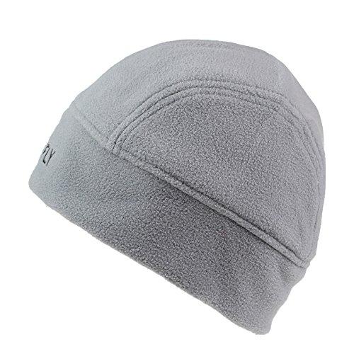 Connectyle Men  's Lined Fleece Skull Cap Warm Winter Beanie Hats with Moisture Wicking Lining Grey, 55 59cm (Xxl Cap Skull)