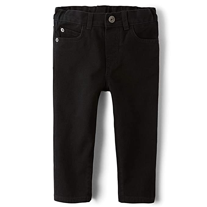 The Children's Place Baby Boys' Skinny Jeans, Black DNM 4126, 9-12 Months best baby jeans