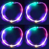 4 Pack LED Necklaces - Multi Color