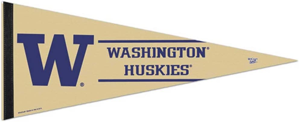 "WinCraft NCAA 64601010 University of Washington Premium Pennant, 12"" X 30"""