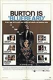 "Bluebeard 1972 Authentic 27"" x 41"" Original Movie Poster Richard Burton Thriller U.S. One Sheet"