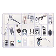 Baban 18pcs Snap on Presser Feet for Janome Toyota Brother Singer Domestic Sewing Machine Part