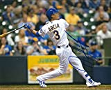 Autographed Orlando Arcia 8x10 Milwaukee Brewers Photo