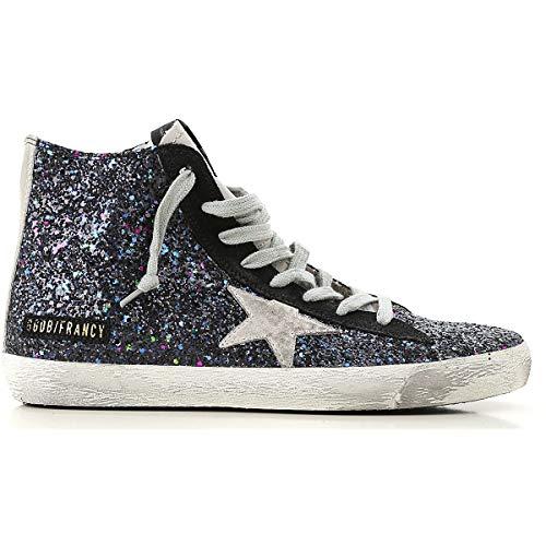 G34ws591b62 Hi Top Blu Goose Donna Tessuto Sneakers Golden 14AXqwq
