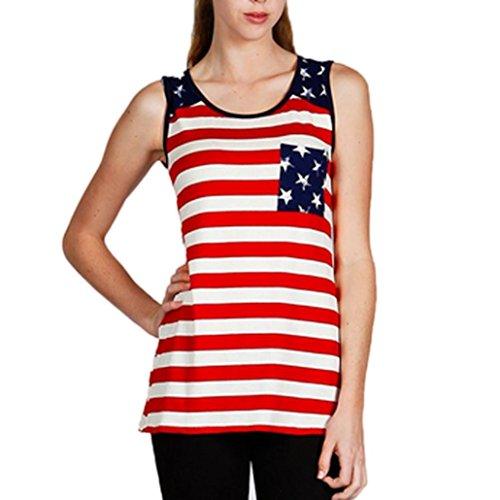 Limsea Womens Blouse, Print Sexy Sleeveless Tank Crop Tops Vest T-Shirt