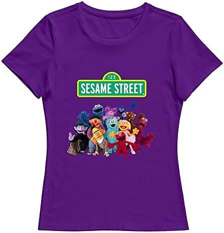 StaBe Women's Sesame Street Logo T-Shirt Cotton Swag