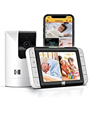 """KODAK Cherish C525 Video Baby Monitor with Mobile App - 5"""" HD Screen - Hi-res Baby Camera with Remote Tilt, Pan and Zoom Two-Way Audio, Night-Vision, Long Range"""