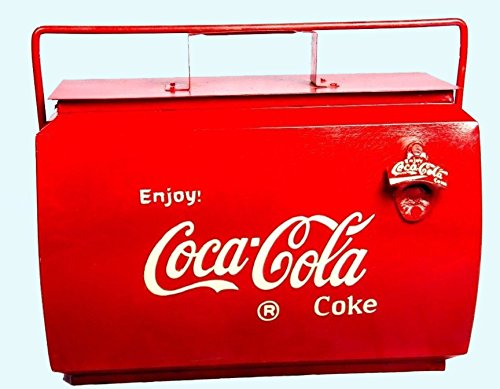 Antiques World Vintage Stored Cool Coca-Cola Coke Antique 1950 Soda Bottle Cooler Box AWUSAHB 0105