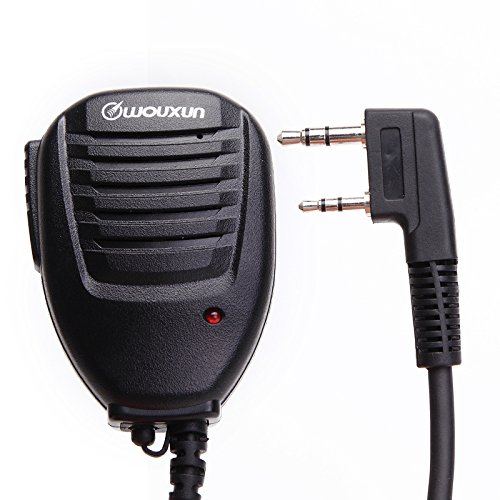 Original High Quality Wouxun Speaker Microphone with Indicator Light for Wouxun Handheld Two Way Radio kg de KG-UVD1P kg KG-UV8D kg de uv9d Plus