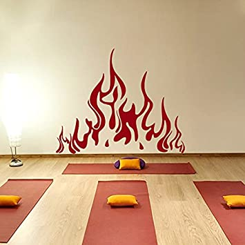 Wall Decals Fire Vinyl Sticker Flame Decal Home Decor Fireplace