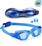 Sporting Goods : EverSport Swim Goggles, Pack of 2 Swimming Goggles, Swim Glasses No Leaking Anti Fog UV Protection for Adult Men Women Youth Kids Child, Shatter-Proof, Watertight, Triathlon Goggle Mirrored/Clear Lens