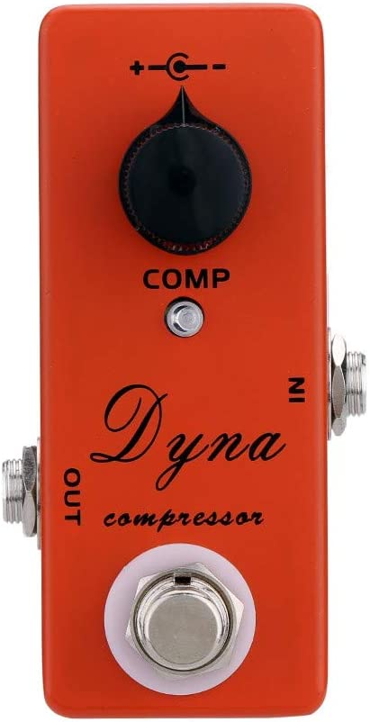 Doolland Dyna Compressor Pedal de efecto de guitarra eléctrica Mini Single Effect con True Bypass