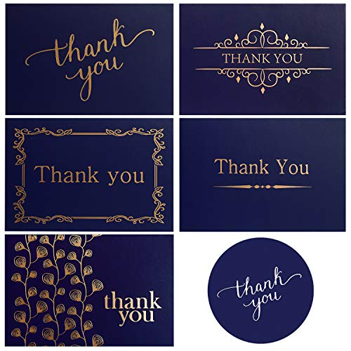 100 Thank You Cards - Greeting Cards Blank Cards with Envelopes and Sealing Stickers -4x6 Photo Size Thank You Notes Assortment for Weeding Business Birthday (100 Pack)