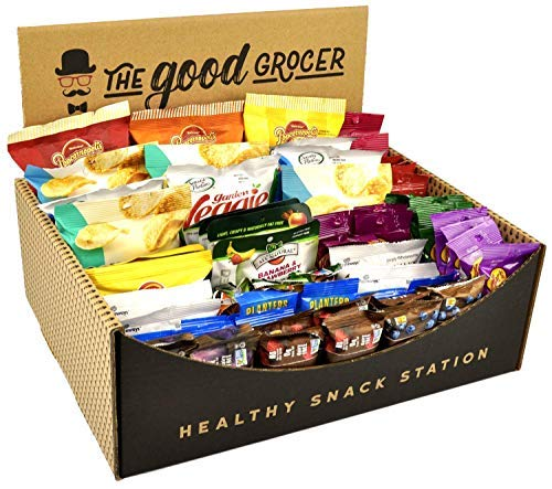 Healthy Snack Station (70 Count) by The Good Grocer – Office Snacks, School Lunches, Variety Pack (Includes Display Box)